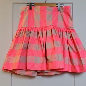 Brand new Jcrew midi pink neon skirt